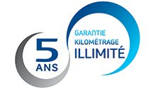 Garantie 5 ans Km illimités